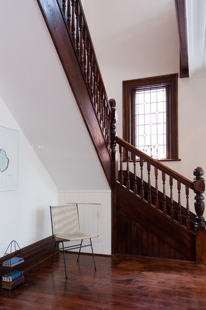 traditional staircase by Jenn Hannotte / Hannotte Interiors