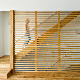 Réalisation d'un escalier minimaliste.