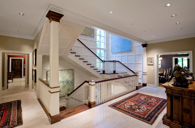 Traditional Staircase by Avanti Marble & Granite Inc.