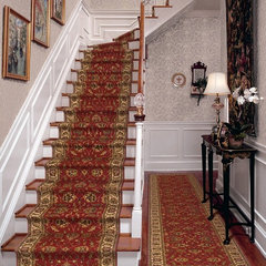 traditional staircase by Bradford's Rug Gallery