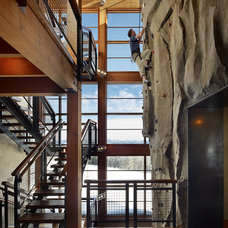 Contemporary Staircase by Highline Partners, Ltd