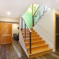 Contemporary Staircase by Fivedot Design Build