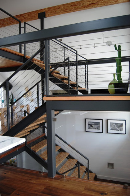modern staircase by Portal Design Inc