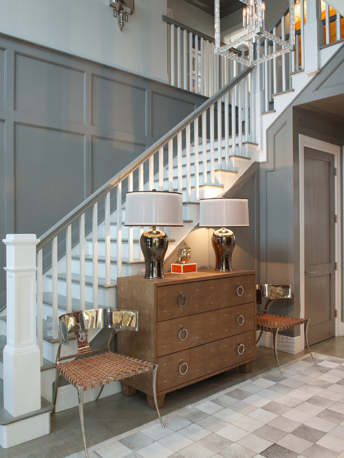 Painted basement stairs - Gray Painted Stairs Home Design Ideas Pictures Remodel And Decor