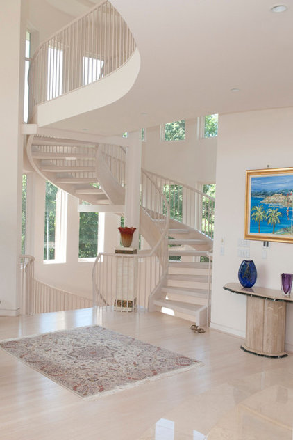 Contemporary Staircase by Larry Canner Photography