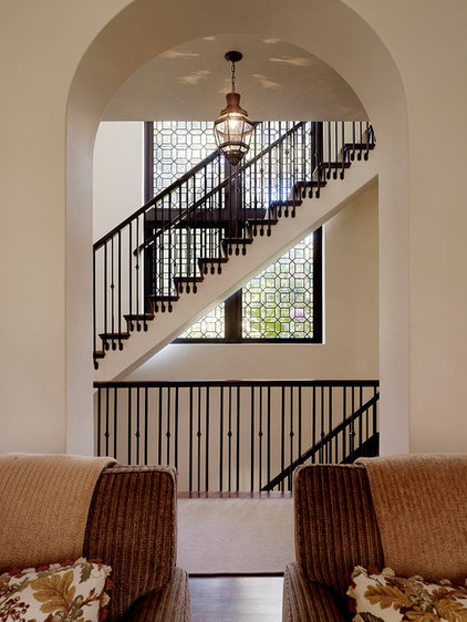 Traditional Staircase by Charlie Barnett Associates