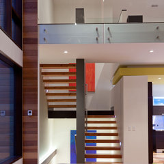 modern staircase by Lucid Architecture