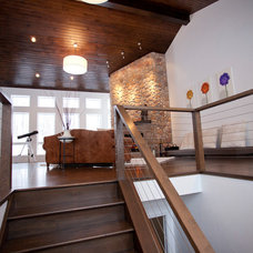 Contemporary Staircase by Ryan Duebber Architect, LLC