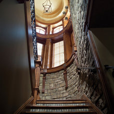 Eclectic Staircase by House Plans and More