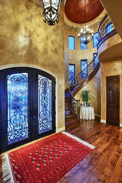 Mediterranean Staircase by Sterling Custom Homes