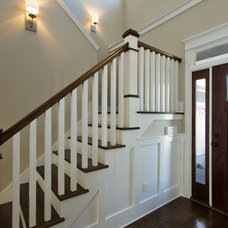 Transitional Staircase by plantation building corp