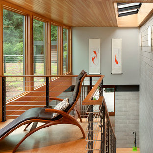 Inspiration for a contemporary staircase remodel in Seattle