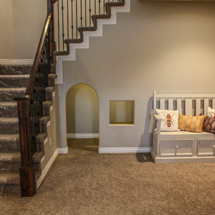 Inspiration for a craftsman staircase remodel in Salt Lake City