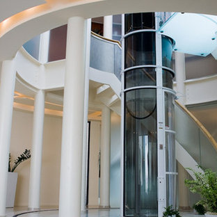 Example of a trendy staircase design in Portland Maine