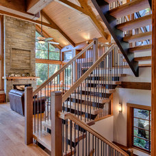 Rustic Staircase by Feature Projects Ltd.