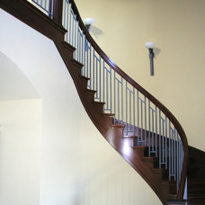 Contemporary Staircase by Whitmann Construction