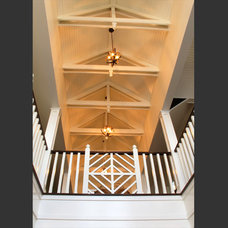 Traditional Staircase by Aubertine and Currier Architects