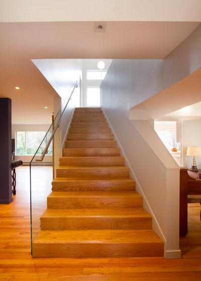 Contemporary Staircase by Princeton Design Collaborative