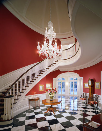 Traditional Staircase by Jennifer Bevan Interiors