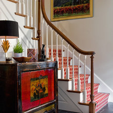 Eclectic Staircase by Katie Rosenfeld Design
