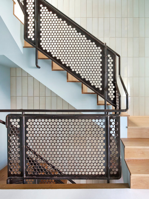 Industrial Stair Railings Home Design Ideas Pictures