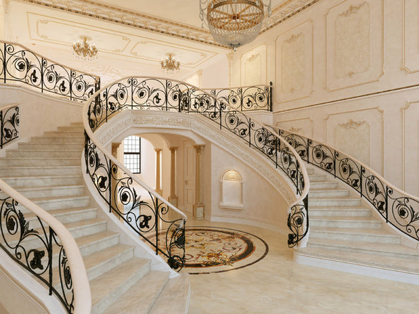 Traditional Staircase by PDG Interior Design by Marina Gorelova