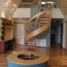 Contemporary Staircase by Coldham & Hartman Architects