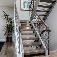 Modern Staircase by Denver Design Build