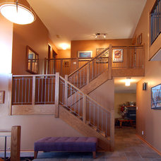 Contemporary Staircase by Kaufman Construction Design and Build