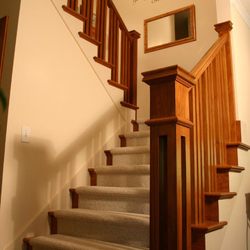 Prairie Style Ranch Remodel: Staircase and Railing Detail