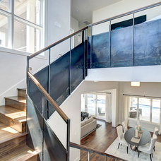 Industrial Staircase by Premier Partners Homes - Austin's Premier Builder