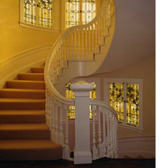 traditional staircase by Steve Rankin Architecture