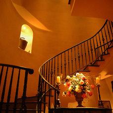 Mediterranean Staircase by Preston Custom Homes