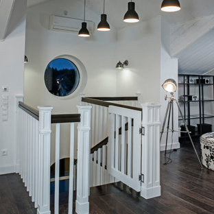 Inspiration for a french country staircase remodel in Saint Petersburg