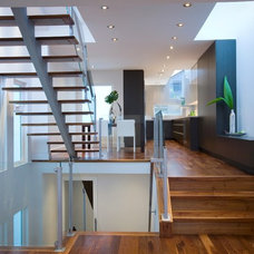 Contemporary Staircase by Klondike Contracting