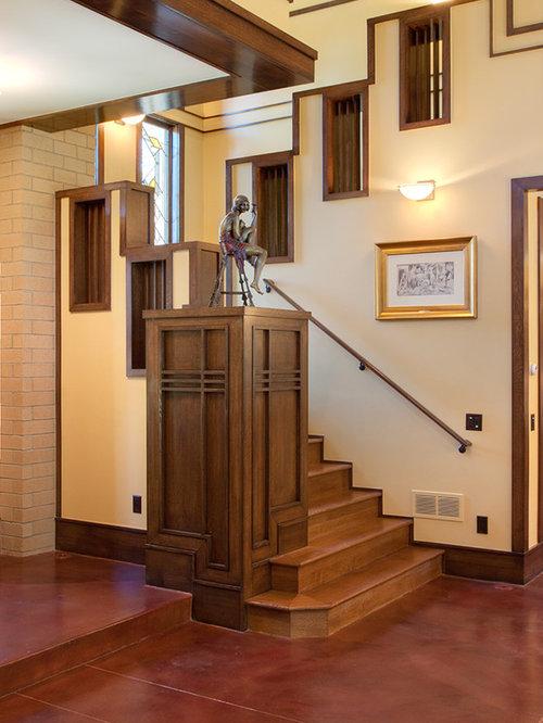 Staircase   Craftsman Wooden Staircase Idea In Denver