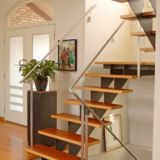 Contemporary Staircase by Leighton Design Group
