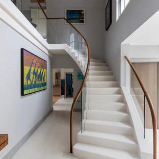 Design ideas for a large modern staircase in Wiltshire.