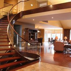 Contemporary Staircase by Dominion Stair Co