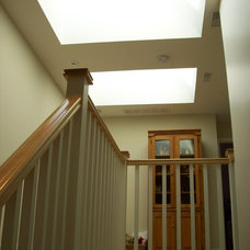 Contemporary Staircase by Wo-Built