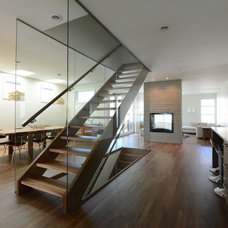 Contemporary Staircase by Fifth Element Homes