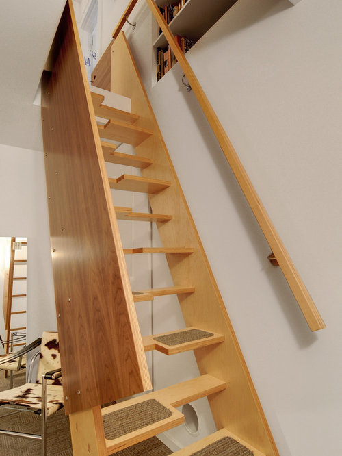 Staircase   Contemporary Wooden Straight Staircase Idea In Seattle