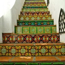 Mediterranean Staircase by Talavera & Ceramic Tile Studio