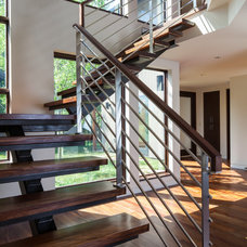 Contemporary Staircase by Prugh Real Estate LLC