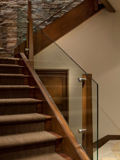 glass stair railing houzz. Black Bedroom Furniture Sets. Home Design Ideas