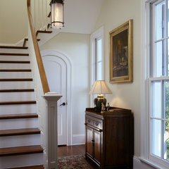 traditional staircase by Cooper Johnson Smith Architects and Town Planners