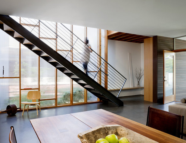 Contemporary Staircase by MW|Works Architecture+Design