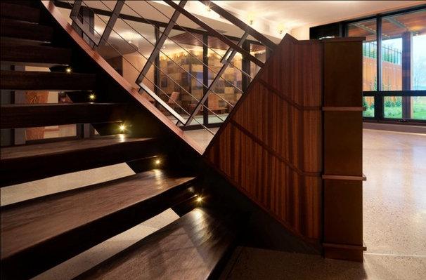 Rustic Staircase by Birdseye Design