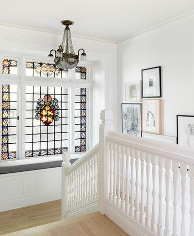 Transitional Staircase by DeForest Architects