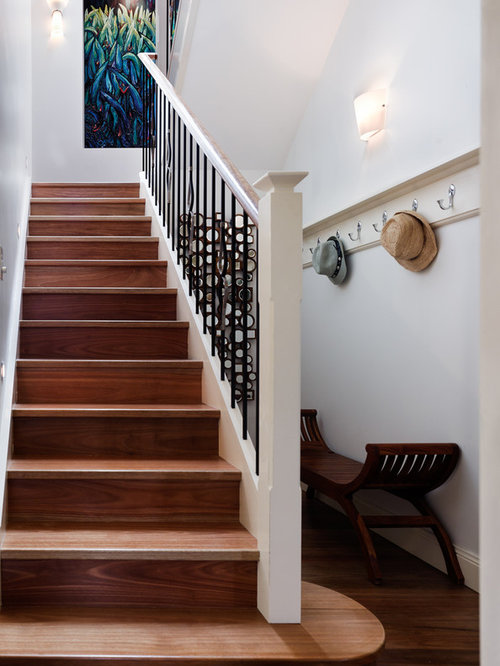 Inspiration For A Mid Sized Contemporary Wooden U Shaped Staircase Remodel  In Sydney